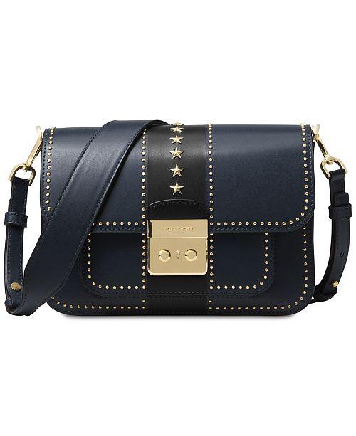 67be4f6af3fc2 ... Michael Kors Sloan Editor Star Studded Leather Shoulder Bag ...