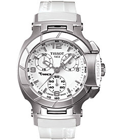 Tissot Women's Swiss Chrongraph T-Race White Rubber Strap Watch T0482171701700