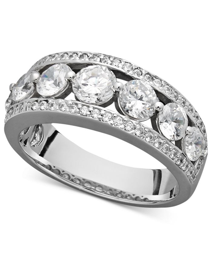 Macy's - Certified Diamond Band Ring in 14k White Gold (2 ct. t.w.)