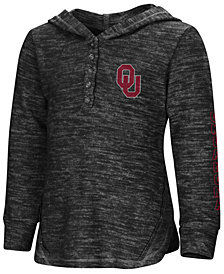 Colosseum Oklahoma Sooners Hooded Long Sleeve Henley T-Shirt, Toddler Girls (2T-4T)