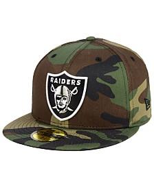 New Era Oakland Raiders Basic Fashion 59FIFTY FITTED Cap