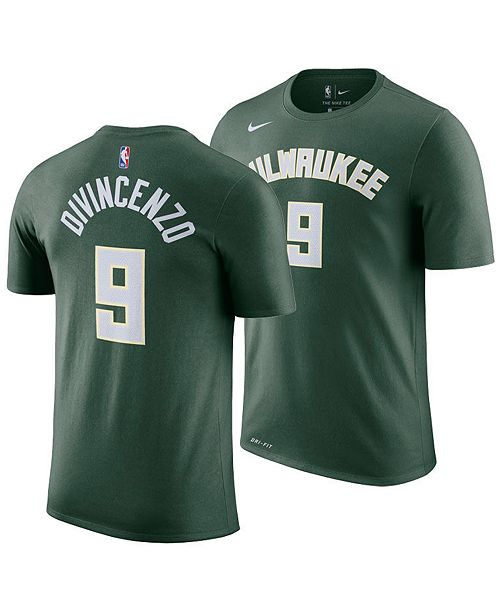 d14dbba69 ... Nike Men s Donte DiVincenzo Milwaukee Bucks Icon Player T-Shirt ...