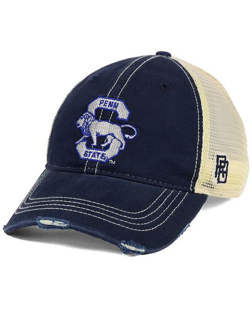 7dc793ef53bc75 ... Retro Brand Penn State Nittany Lions Retro Distressed Trucker Snapback  Cap ...