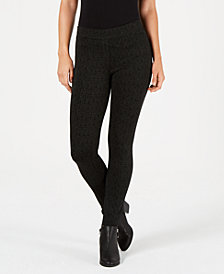Style & Co Stipple-Print Tummy-Control Leggings, Created for Macy's