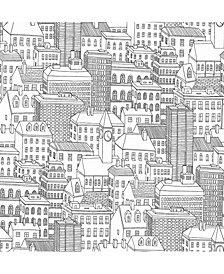 Metropolis Peel and Stick Wallpaper