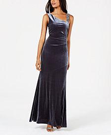 Vince Camuto Embellished Velvet Gown