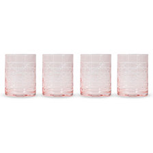 Pink Canned High Ball Glass - Set Of 4
