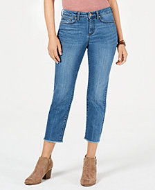 Style & Co Petite High-Rise Cropped Raw-Hem Jeans, Created for Macy's