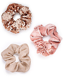 I.N.C. 3-Pk. Blush Scrunchies, Created for Macy's