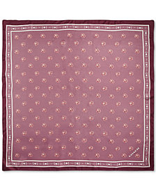 COACH Rose Silk Square Scarf
