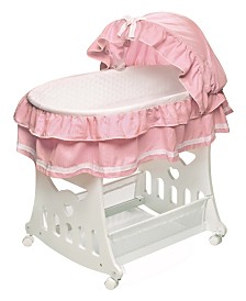 Portable Bassinet N Cradle with Toybox Base And Half Skirt
