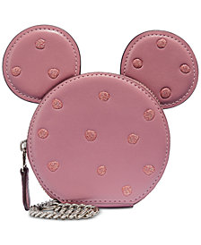 COACH Boxed Minnie Mouse Coin Case, Created for Macys