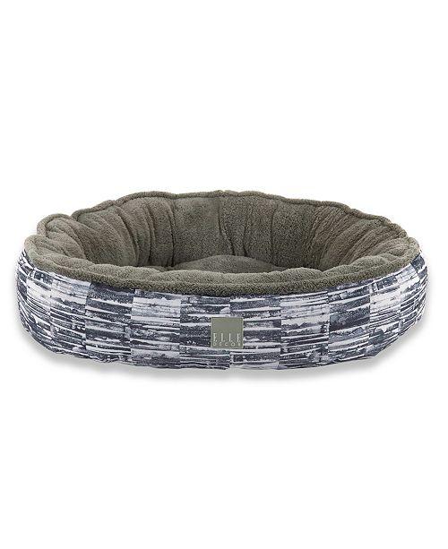 Elle Decor Comfy Pooch Dog Round Bolster Bed