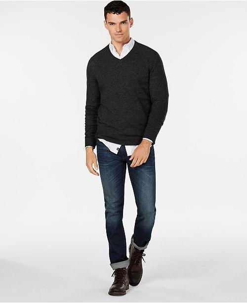 Mens V Neck Cashmere Sweater Created For Macys