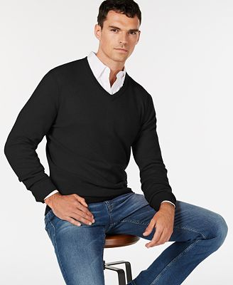 Club Room Mens V Neck Cashmere Sweater Created For Macys