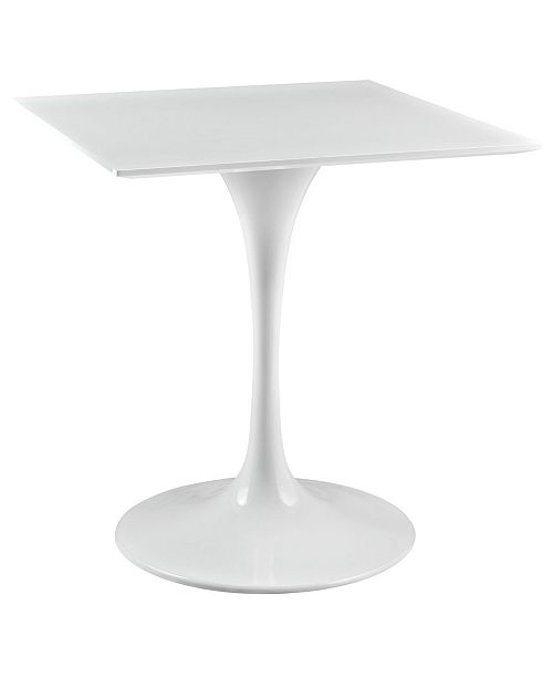 """Modway Lippa 28"""" Square Wood Top Dining Table"""