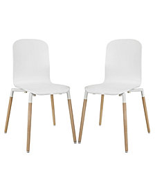 Modway Stack Dining Chairs Wood Set of 2