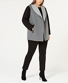 Calvin Klein Plus Size Open-Front Jacket