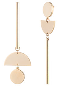 Trina Turk Asymmetrical Linear Earrings