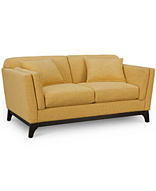 "Cistella 65"" Fabric Loveseat, Created for Macy's"