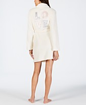 70f9e840b0 Jenni Embroidered Short Wrap Robe