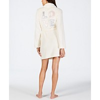 Deals on Jenni Embroidered Short Wrap Robe