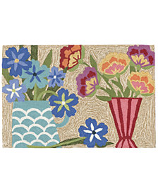 "Liora Manne Front Porch Indoor/Outdoor Still Life Multi 2'6"" x 4' Area Rug"
