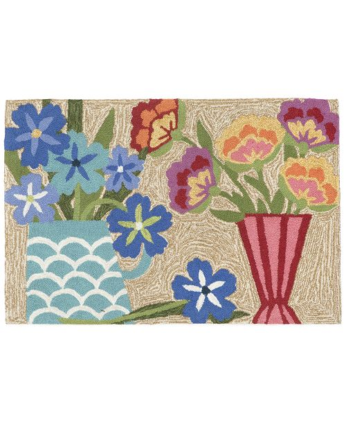 "Liora Manne' Liora Manne Front Porch Indoor/Outdoor Still Life Multi 2'6"" x 4' Area Rug"