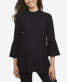 Motherhood Maternity Bell-Sleeve Peplum Top