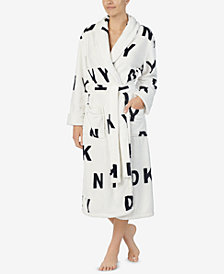 DKNY Printed Long Wrap Robe