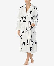 DKNY Printed Long Wrap Robe