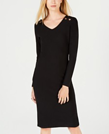 Planet Gold  Juniors' Grommeted Brushed Jersey Dress