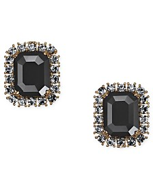 Kate Spade New York  Gold-Tone Crystal & Stone Square Stud Earrings