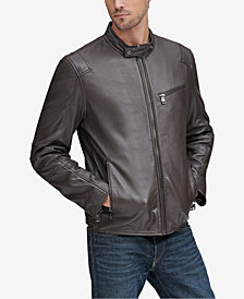 Marc New York Men's Weston Full-Zip Leather Moto Jacket, Created for Macy's