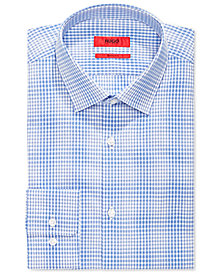 Hugo Boss Men's Slim-Fit Blue Check Dress Shirt