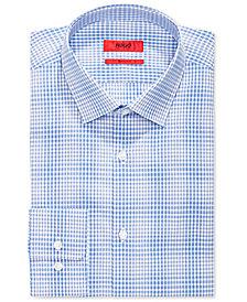 Hugo Boss Men's Slim-Fit Blue Check Dress Shirt