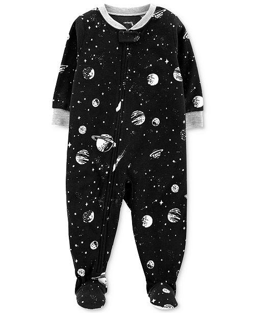 32bb660a622e Carter s Baby Boys Space-Print Fleece Footed Pajamas   Reviews ...