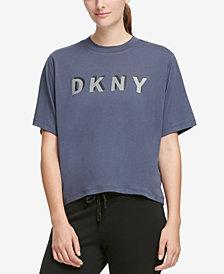DKNY Sport Logo Cropped T-Shirt