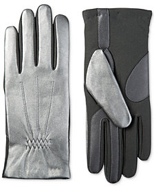 Isotoner Women's Stretch Leather Touchscreen Gloves with SleekHeat™