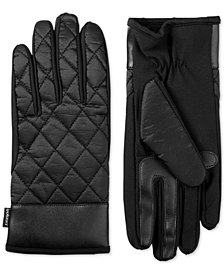 Isotoner Women's Quilted Touchscreen Gloves with Double Lining