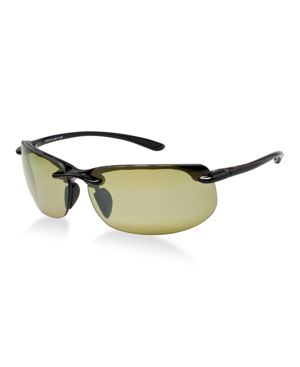 'BANYANS - POLARIZEDPLUS2' 67MM SUNGLASSES - GLOSS BLACK / HT LENS