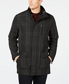 Ryan Seacrest Distinction Men's 3-in-1 Plaid Parka, Created for Macy's