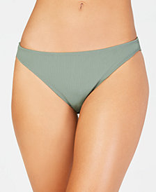 California Waves Solid Ribbed Hipster Bottoms, Created for Macy's