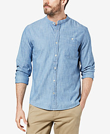 Dockers® Men's Slim-Fit Band-Collar Chambray Shirt