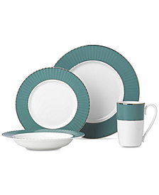 Lenox Pleated Colors Teal Dinnerware Collection
