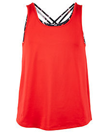 Ideology Big Girls Layered-Look Tank Top, Created for Macy's