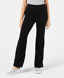 Karen Scott Petite Microfleece Pull-On Knit Pants, Created for Macy's