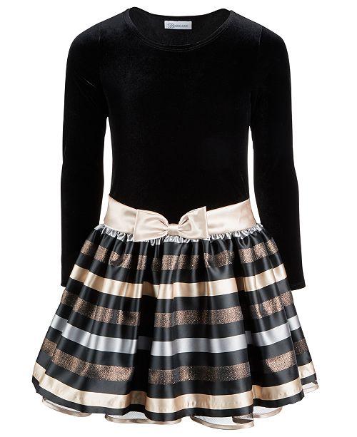 b5bcea8673b Bonnie Jean Big Girls Plus Velvet Jacquard Striped Dress & Reviews ...