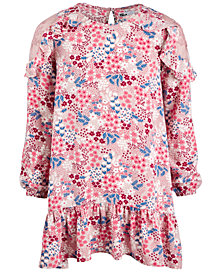 Epic Threads Big Girls Embroidered Mesh-Shoulder Dress, Created for Macy's