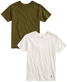 Polo Ralph Lauren Big Boys 2-Pk. Cotton Crew-Neck T-Shirts
